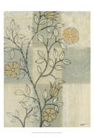 Neutral Linen Blossoms II Fine-Art Print