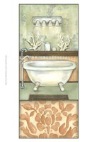 Damask Bath I Fine-Art Print