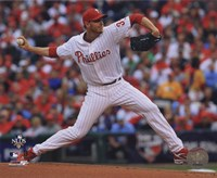 Roy Halladay throws second no-hitter in MLB postseason Fine-Art Print