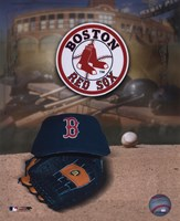 Boston Red Sox Logo and Cap Fine-Art Print