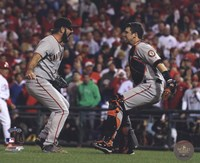 Buster Posey & Brian Wilson Celebrate winning the 2010 NLCS Fine-Art Print