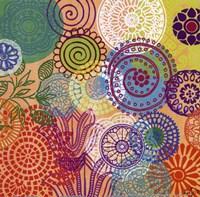 Circle Flowers I Fine-Art Print