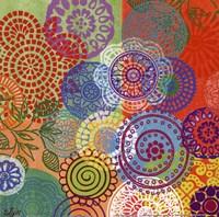 Circle Flowers III Fine-Art Print