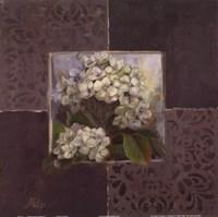 Hydrangeas on Brown I Fine-Art Print