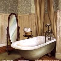 Green Farmhouse Bath II Fine-Art Print
