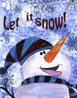 Let it Snow Snowman Fine-Art Print