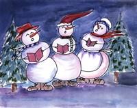 Snowmen Carols Fine-Art Print