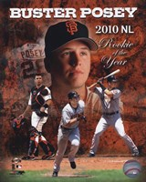 Buster Posey 2010 National League Rookie of the Year Composite Fine-Art Print
