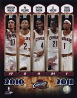 2010-11 Cleveland Cavaliers Team Composite Fine-Art Print