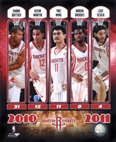 2010-11 Houston Rockets Team Composite Fine-Art Print