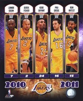 2010-11 Los Angeles Lakers Team Composite Fine-Art Print