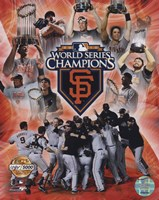 San Francisco Giants 2010 World Series Champions PF Gold Fine-Art Print