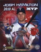 Josh Hamilton 2010 Americal League MVP Portrait Plus Fine-Art Print