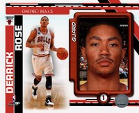 Derrick Rose 2010-11 Studio Plus Fine-Art Print