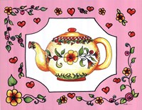 Teapot with Pink Coral Floral Fine-Art Print