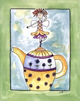 Purple Flower Teapot Fairy Fine-Art Print