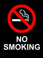 No Smoking - Black Fine-Art Print