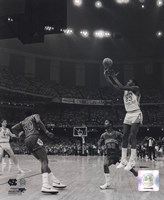 Michael Jordan University of North Carolina Game winning basket in the 1982 NCAA Finals against Georgetown Vertical Action Fine-Art Print