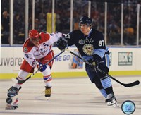 Alex Ovechkin & Sidney Crosby 2011 NHL Winter Classic Action Fine-Art Print