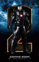 Iron Man 2 Gray Armor Close Up Wall Poster