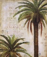 Palms and Scrolls I Fine-Art Print
