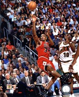Scottie Pippen Game 4 of the 1996 NBA Finals Action Fine-Art Print