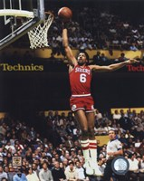 Julius Erving Action Fine-Art Print