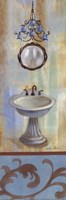 French Bathroom in Blue II Fine-Art Print