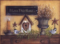 Bless This Home (shelf) Fine-Art Print