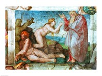 Sistine Chapel ceiling: Creation of eve, with four Ignudi, 1511 Fine-Art Print