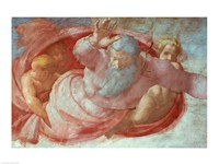 Sistine Chapel: God Dividing the Waters and Earth Fine-Art Print