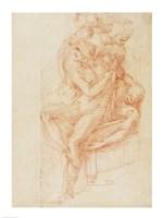 Study of Lazarus and two Attendant Figure Fine-Art Print