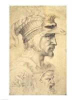 Ideal head of a warrior Fine-Art Print