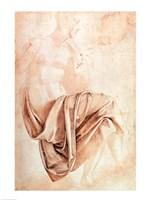 Inv. 1887-5-2-118 Recto (W.10) Study of drapery Fine-Art Print