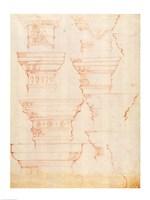 W.18v Study of column capitals Fine-Art Print