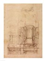 W.26r Design for the Medici Chapel in the church of San Lorenzo, Florence Fine-Art Print