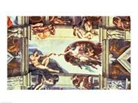 Sistine Chapel Ceiling: Creation of Adam, 1510 Fine-Art Print