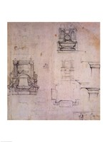 Inv. 1859 6-25-545. R. (W. 25) Designs for tombs Fine-Art Print