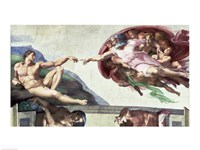 Sistine Chapel Ceiling (1508-12): The Creation of Adam, 1511-12 Fine-Art Print