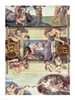 Sistine Chapel Ceiling (1508-12): The Creation of Eve, 1510 Fine-Art Print