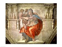Sistine Chapel Ceiling: Delphic Sibyl Fine-Art Print