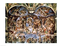 Last Judgement, from the Sistine Chapel, 1538-41 Fine-Art Print