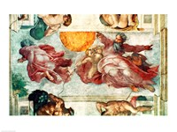 Sistine Chapel Ceiling: Creation of the Sun and Moon, 1508-12 Fine-Art Print