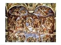 Sistine Chapel: The Last Judgement, 1538-41 Fine-Art Print