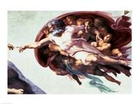 Sistine Chapel Ceiling: Creation of Adam, 1510 (detail) Fine-Art Print