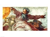 Sistine Chapel Ceiling: Creation of the Sun and Moon, 1508-12 Fine-Art Print