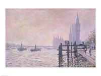 The Thames below Westminster, 1871 Fine-Art Print