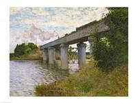 The Railway Bridge at Argenteuil, c.1873-4 Fine-Art Print