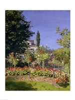 Flowering Garden at Sainte-Adresse, c.1866 Fine-Art Print