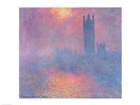The Houses of Parliament, London, with the sun breaking through the fog, 1904 Fine-Art Print
